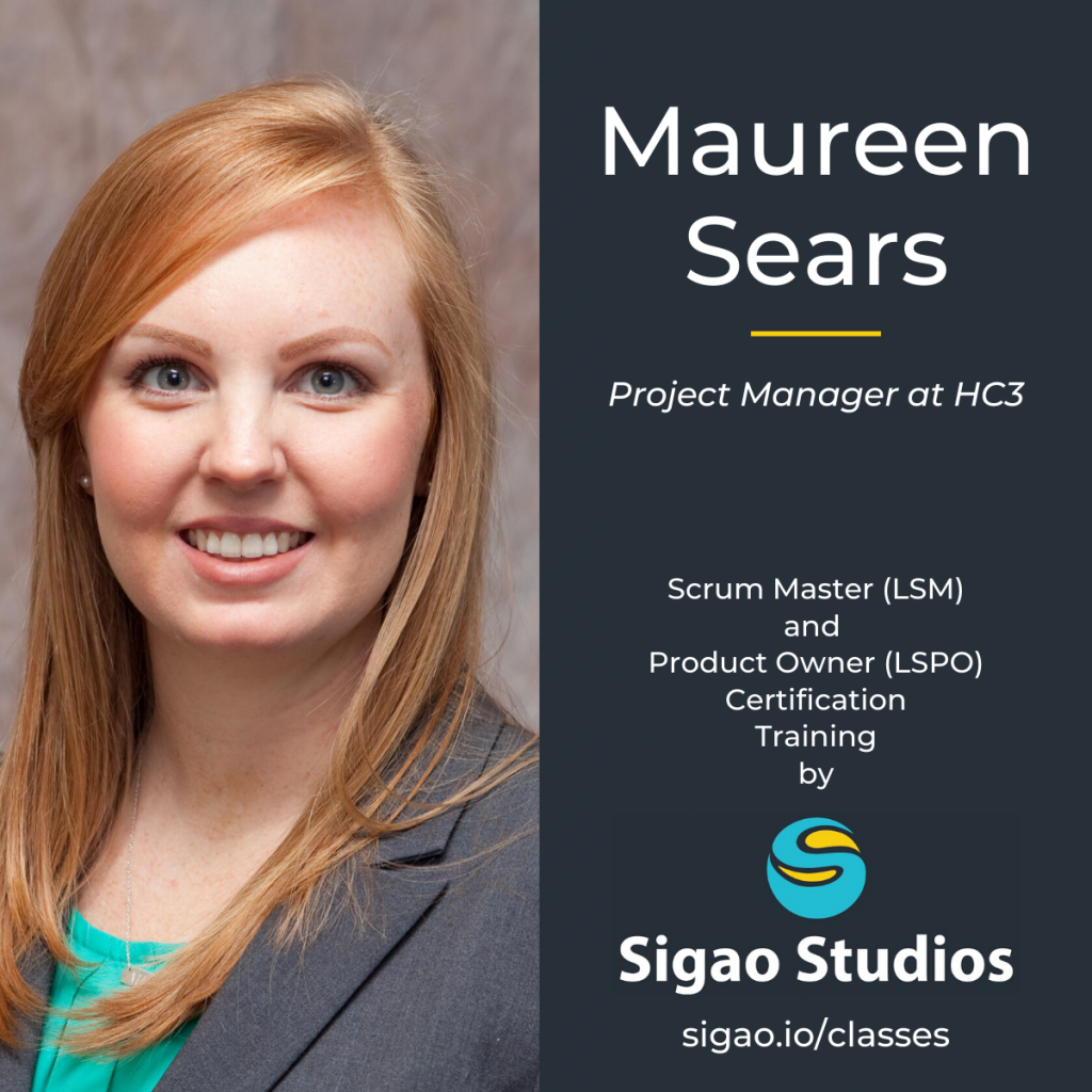 Maureen Sears Sigao Scrum Class