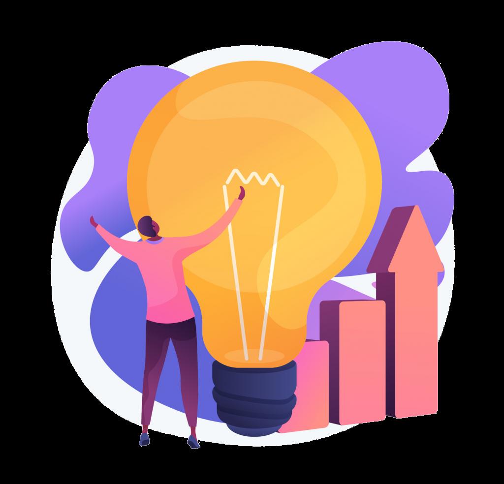Idea inception illustration