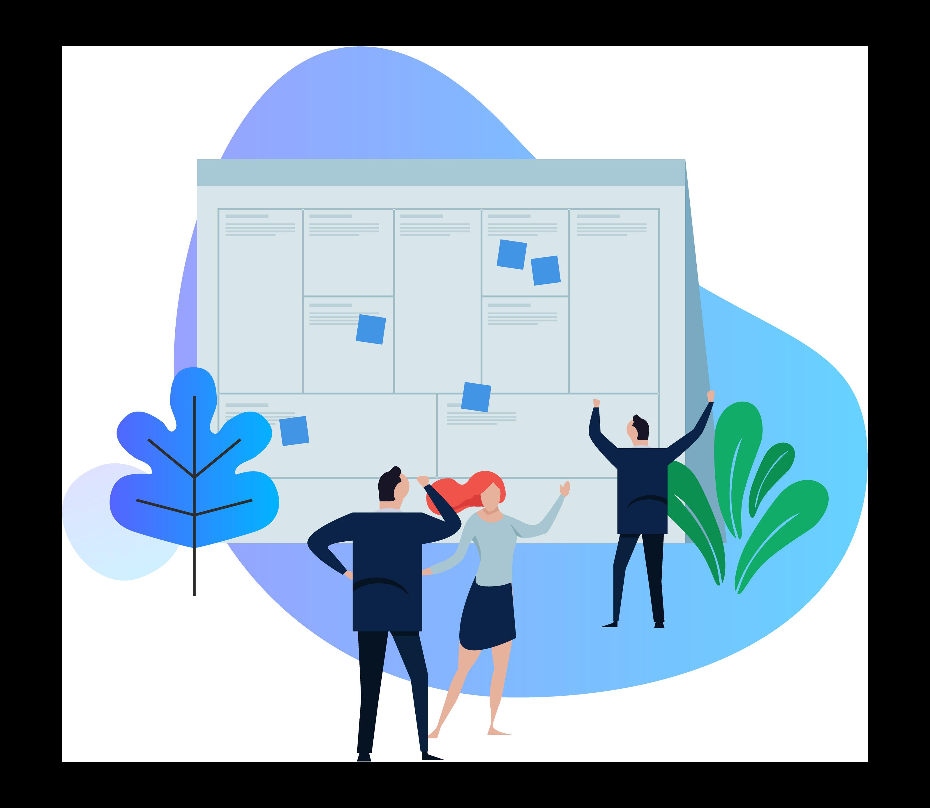 Business canvas illustration