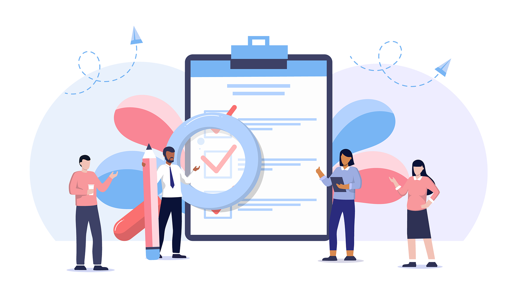 Advanced business testing illustration